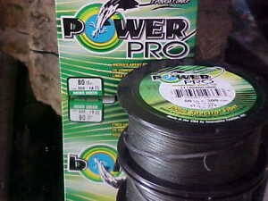 (1) POWER PRO SPECTRA BRAIDED 80lb Test  eq. 18 lb Line 300 YARDS MOSS GREEN