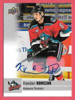 2019-20 Kaedan Korczak Upper Deck CHL Rookie Auto - Vegas Golden Knights