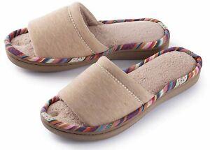 Roxoni Women's Soft Open Toe Slide Slip-On Slippers