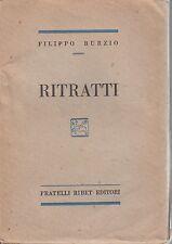 Burzio, Ritratti, Ribet editori, 1929, Pareto, sociologia, economia