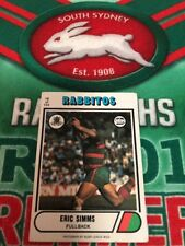 1976 Scanlens Rugby League Card No 18 Eric Simms South Sydney Rabbitohs