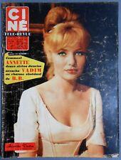 ►CINE REVUE 12/1960-ANNETTE VADIM-STEVE REEVES-MICHELE MORGAN-DALIDA-LIZ TAYLOR