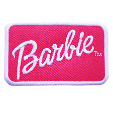 Barbie Doll Toy Children Cute Embroidered Patch Iron Sew Logo Emblem Custom