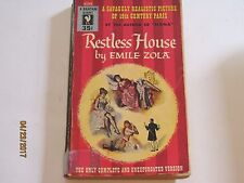 Restless House by Emile Zola  BANTAM SAVAGELY REALISTIC PICTURE PARIS 1954 jk169