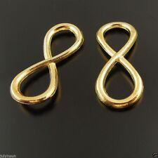 "10pcs Golden Tone Infinity Symbol ""8"" Charms Pendant 31*13*3mm 37866"