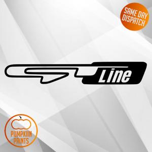 x2 KIA GT LINE STICKER - WINDOW BUMPER - 8 COLOURS - 5 YEAR OUTDOOR VINYL