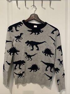 Boys Gymboree Dino sweater Medium (7-8)