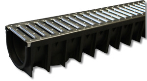 Channel Drain x 1m Galvanised Grid 4all Domestic Mufle
