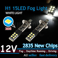 2pcs H1 2835 Smd 15 LED Head Light Lamp White Car Fog Daytime Driving Bulbs 12V
