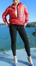 VINTAGE Groovy Urban Sporty Cropped Red Parka Jacket