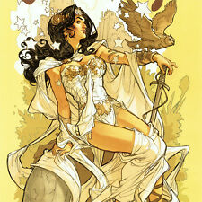 WONDER WOMAN Signed ART PRINT Terry Dodson SDCC 2017 Goddess LIMITED 100 ONLY!