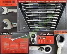New Snap On 12 Point Metric Speed Open End / Ratcheting Box Wrench Set SRXRM710