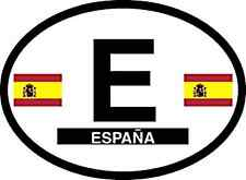 SPAIN  OVAL STICKER WITH FLAGS