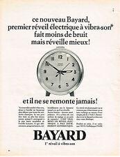 PUBLICITE ADVERTISING   1966   BAYARD  réveil