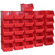 26x Profi Sichtboxen PP Größe 3 rot NEU Stapelbox Sicht-Lagerbox Boxen Sichtbox