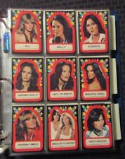 1977 CHARLIE'S ANGELS Topps Trading Card LOT of 111 w/ 11 Stickers VF/NM