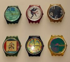 6 SWATCH quartz watches. Swiss. For repair/Revision.