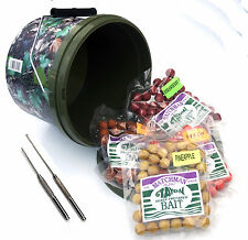 Session bucket - Carp boilie Selection mix with stainless needle & baiting drill