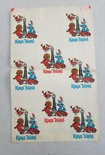 Kings Island Vintage 1972 Memorabilia Shopping Bag - First Year Opened - Rare
