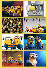 the minions new animation cartoon despicable me Movie Postcard 8pcs per set