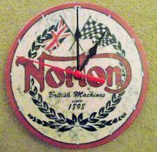 """Norton Motorcycles  7""""  up cycled wall clock. British machines"""