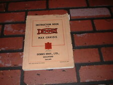 GENUINE DENNIS MAX CHASSIS & C.I. ENGINE INSTRUCTION BOOK. 1948.