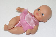 "Lauer Water Baby Doll 10"" Fillable Pink Tutu Outfit RARE 10"" Blond Blue Eyes Toy"
