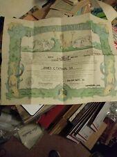 1961 Imperivm Neptvni Regis Certificate