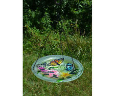 Bird Baths Butterfly Trio Glass Hanging Bird Bath Se5020