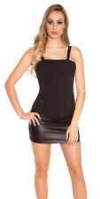Sexy vigas top con schösschen camisa t-shirt sin mangas 34 36 38 negro