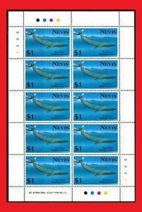 ZAYIX - 1993 Nevis 770 MNH miniature sheet - Blue Whale
