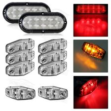 Trailer LED Light kit, Clear lens Red Stop Turn Tail,Utility, boat,Surface Mount