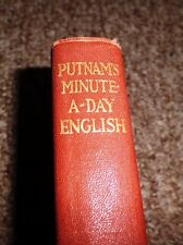"""1921 """"Putnam's Minute a Day English For Busy People"""" By Edwin Hamlin Carr"""
