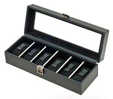 Davidt's petit verrouillable graphite black watch box DAV336806 01