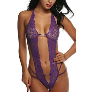 Women Sexy Lingerie Lace G-string Sleepwear Babydoll Nightwear T-Back Underwear