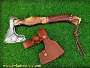 GROOMSMEN GIFT for HIM WEDDING GIFT Hand Forged Custom Viking Axe Carbon Steel