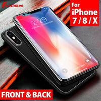 iPhone X 8 7 Plus FRONT AND BACK 9H Tempered Glass Screen Protector for Apple