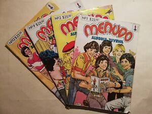 MENUDO RICKY MARTIN CHARLY comic books from 80's vintage first numbers #1 etc