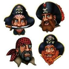 Pirate Crew Cutouts 4 Pack Pirate Birthday Halloween Party Wall Prop Decor