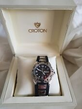 Croton Men's sports  Stainless Steel Silvertone  Watch Brand, new never worn