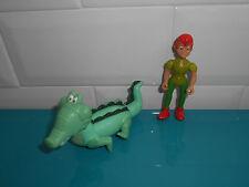 17.5.21.3 Lot 2 Figurines Peter Pan crocodile Tic Tac Disney 8cm heroes Famosa