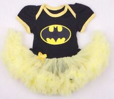BABY GIRLS BATMAN BATGIRL ROMPER TUTU COSTUME with free headband - SIZE 000-2