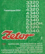 Zetor 3320 - 6340 Tractors Operators & Spare Parts List Manuals Horal Turbo CD