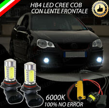 COPPIA LAMPADE FENDINEBBIA HB4 A LED CREE COB CANBUS VW POLO MK4 100% NO ERRORE