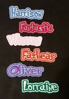 Personalised Embroidered Name Patch Badge D1 Iron on sew on