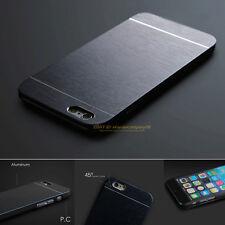 Luxury Hybrid Ultrathin Aluminum Metal Back Phone Case Slim Hard PC Bumper Cover
