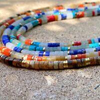 Bracelet collier mala perles bois de cèdre noeud Chinois porte bonheur