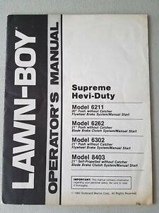 LAWN-BOY Operator's Manual. Supreme Hevi-Duty 6211 6262 6302 8403