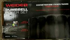Dumbbell Neoprene 3 5 8 Pairs Power Weight Set 32LB Total Weider