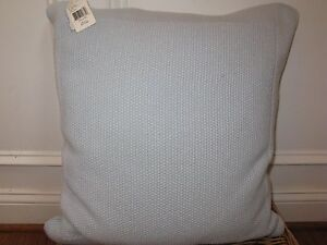 Ralph Lauren WALKER Seed Stitched Deco Pillow Oxford Blue NWT